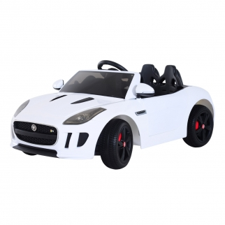 Licensed Jaguar F-Type 12V Kids Battery Powered Ride On Car - White