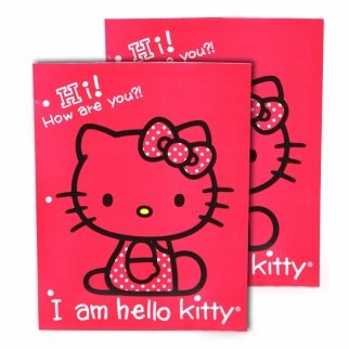2 Pack Hello Kitty Portfolio Folders