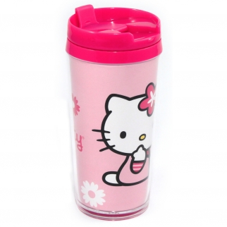 Hello Kitty 16oz Travel Mug Insulated Tumbler Coffee Cup