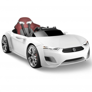 Henes Broon F830 12V Kids Battery Powered Ride On Car in White