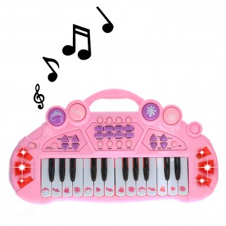 Pretend Play Electronic Keyboard Organ Musical Instrument Kids Toy - Pink
