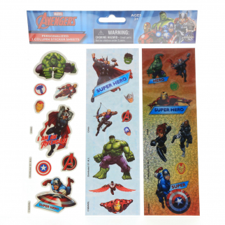 Marvel Avengers Boys Crafting Stickers Kids Art Supplies Stocking Stuffer Set