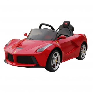 Ferrari LA 12V Kids Battery Powered Ride On Car in Red