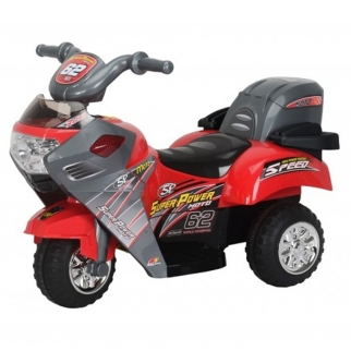 Red Little 3 Wheeler 6V Battery Powered Kids Ride On Motorcycle