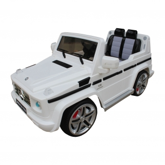 Mercedes Benz G55 12V Battery Power Ride On Car for Kids - White