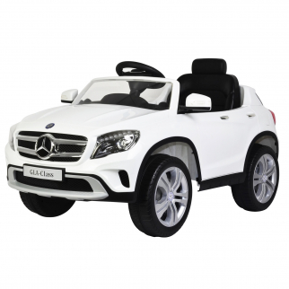 Mercedes Benz GLA 12V Licensed Battery Powered Kids Ride On Car - White