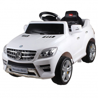 Licensed Mercedes Benz ML-350 6V Kids Battery Powered Ride On Car in White
