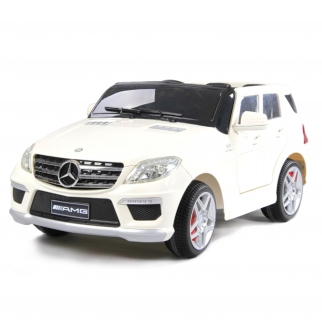 Mercedes ML-63 AMG 12V Kids Ride On Toy Car Battery Powered Wheels in White