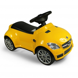 Licensed Mercedes Benz AMG SLK55 Kids Ride On Push Car in Yellow