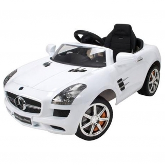 Licensed Mercedes Benz SLS AMG Black Series 12V Kids Battery Powered Ride On Car in White