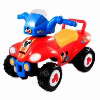 Disney Mickey Mouse Kids Ride On Toy ATV with Lights and Sound in Red
