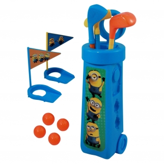 minions movie kids toddler outdoor golf club set includes caddy clubs flags balls putting cups pretend play golf set little tykes totsports junior club