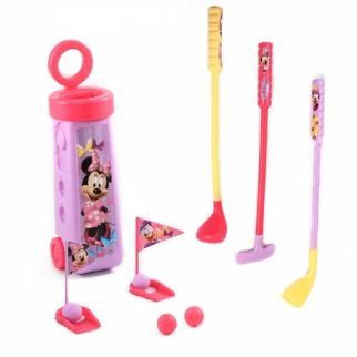 Disney Minnie Mouse Childrens Golf Caddy Play Set (12 Piece)