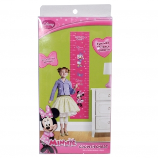 Disney Minnie Mouse Kids, Girls, and Children Growth Chart 60-Inch Peel and Stick Height Tracker
