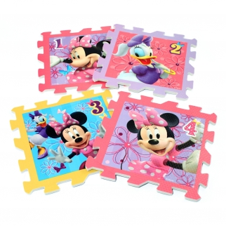 8 Piece Disney Minnie Mouse Bowtique Foam Hopscotch Puzzle 1-4
