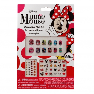 Minnie Mouse Shiny Sparkly Press On Nail Gems and Stickers Set