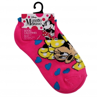 disney minnie mouse kids ankle socks pink size 6 - 8 disney cartoon characters mickey mouse goofy girls socks