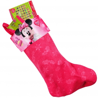 Disney Minnie Mouse Clubhouse Kids Christmas Stocking Gift Set