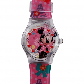 disney's Minnie Mouse Pink Children's Analog Watch Disney's Minnie Mouse Pink Children's Analog Watch