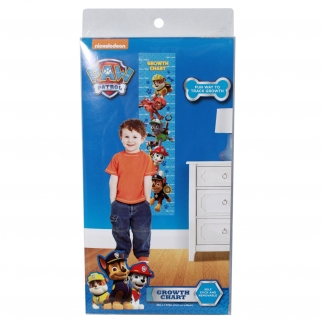 Paw Patrol Chase and Friends Growth Chart Kids and Boys 60-Inch Blue Peel and Stick Height Tracker