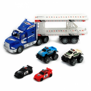 Police Transporter Semi Truck Toy