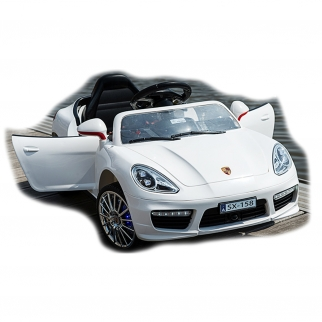 Turbo S SX-158 12V Kids Battery Powered Ride On Car in White
