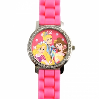 Disney Princess Rapunzel Cinderella Belle Rhinestone Watch