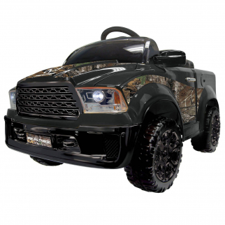 KidPlay Kids Ride On Mud Truck Realtree Camo 12V Battery Powered Electric Car