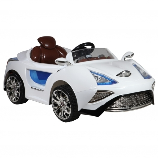 SCL SX-1358 12V Kids Battery Powered Ride On Car in White