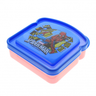 Marvel Spiderman Boys Sandwich Container Bread Lunch Box for School Travel
