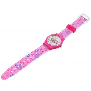 Shopkins Pink Analog Watch with Printed Band