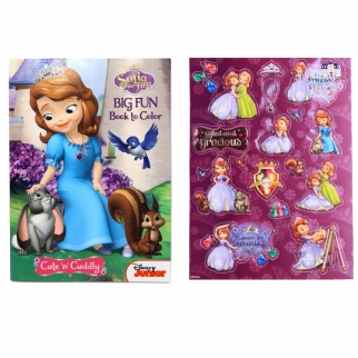 Sofia the First Big Fun Book to Color Activity Coloring Book & Stickers