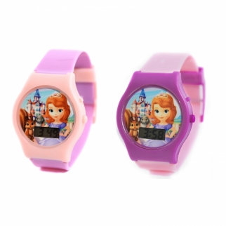 Sofia the First Digital Watches Pink or Purple Strap