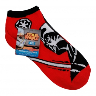 Star Wars Darth Vader Ankle Socks 3 Pairs Size 9-11 Star Wars Movies Clothing Accessories