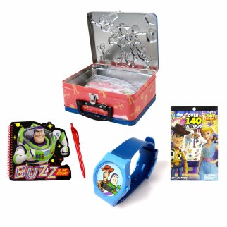 Toy Story 4 Puzzle Tin Lunch Box Bundle 6 Piece Set