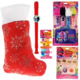 Trolls Kids Holiday Stocking Stuffer Bundle of Toys