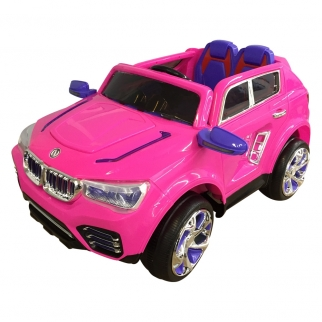 X-700 SUV 12V Kids Battery Powered Ride On Car in Pink