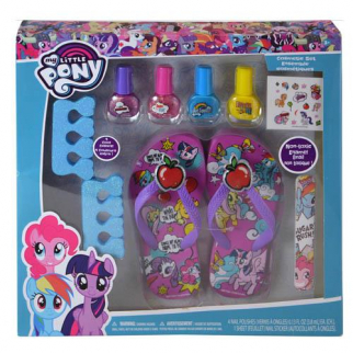 My Little Pony Licensed Pedicure Cosmetic Set with Nail Polish