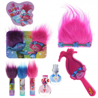 Dreamworks Trolls Girls Lip Hair and Nails Cosmetic Set