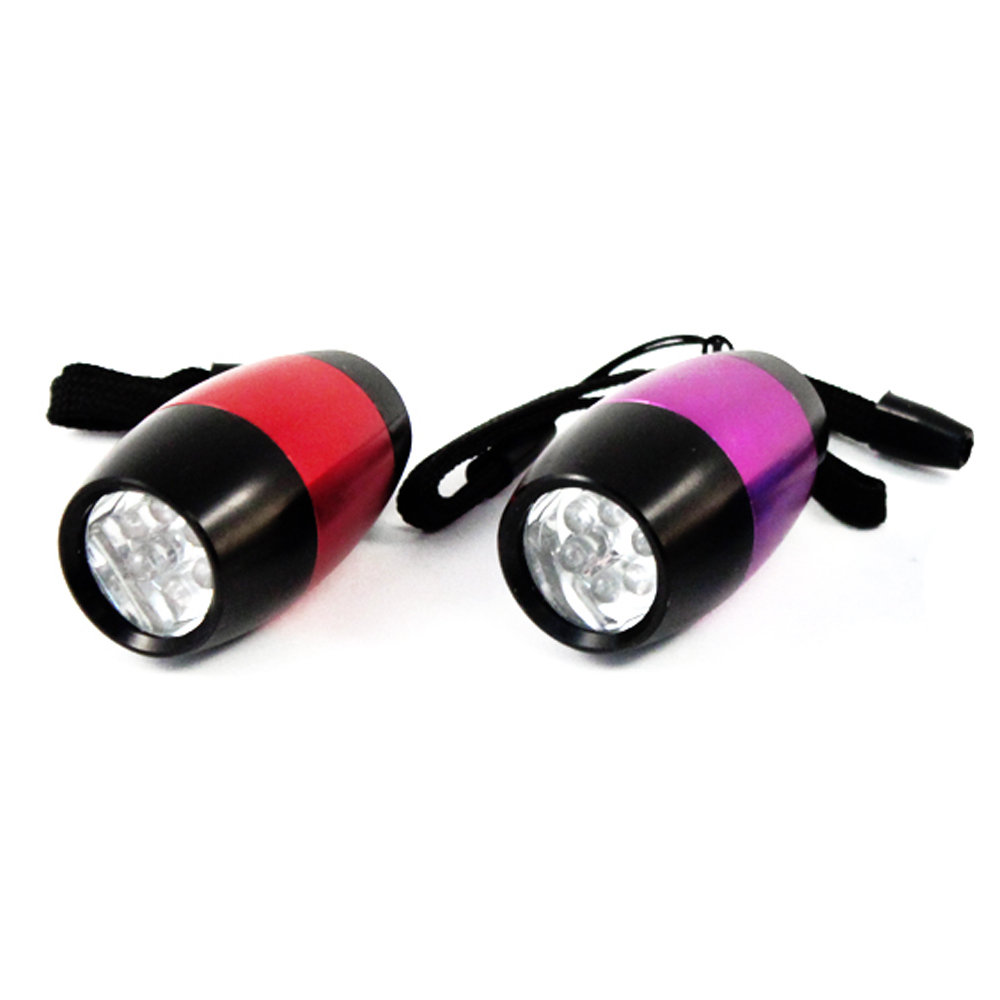 universal tool 6 LED mini barrel flashlight with nylon strap 2 pack led flashlight extreme bright LED waterproof flashlight