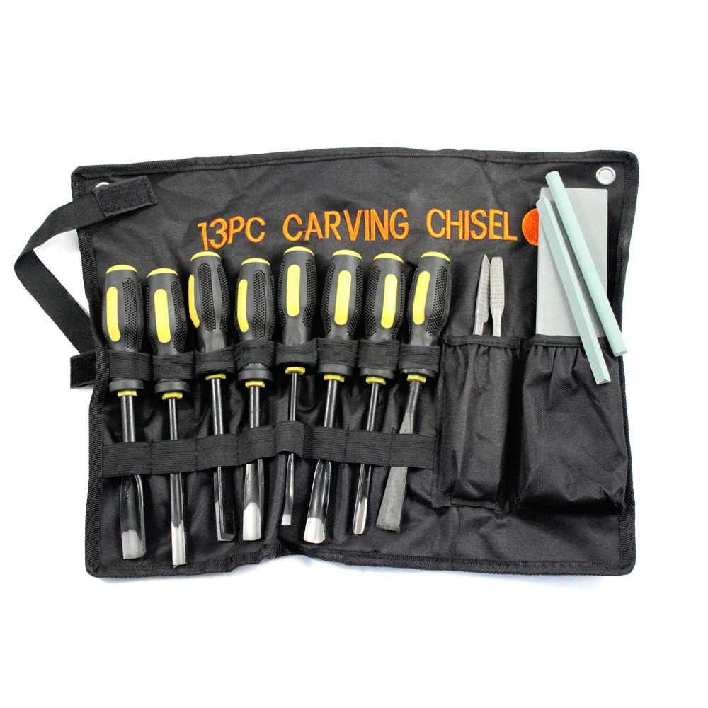 13pc Professional Wood Carving Chisel Set Various Blades Woodworking Clay & Wax