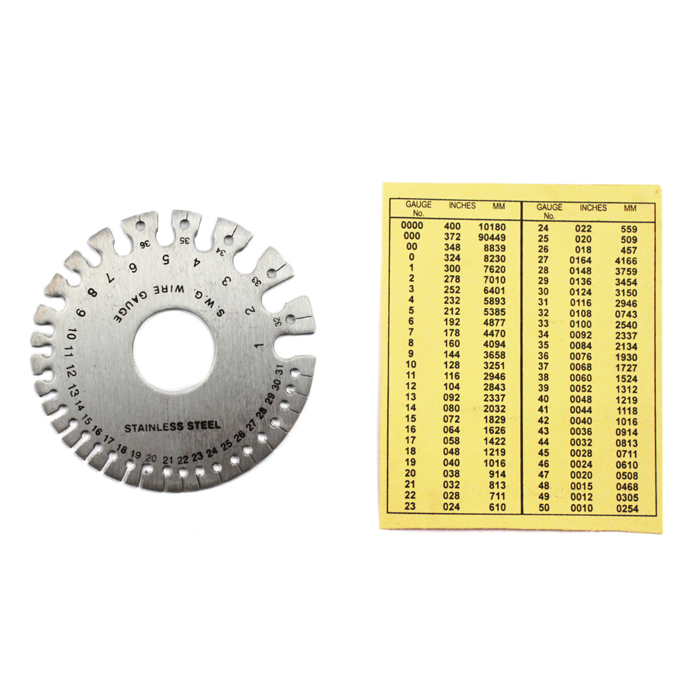 Round Wire Gauge with reference