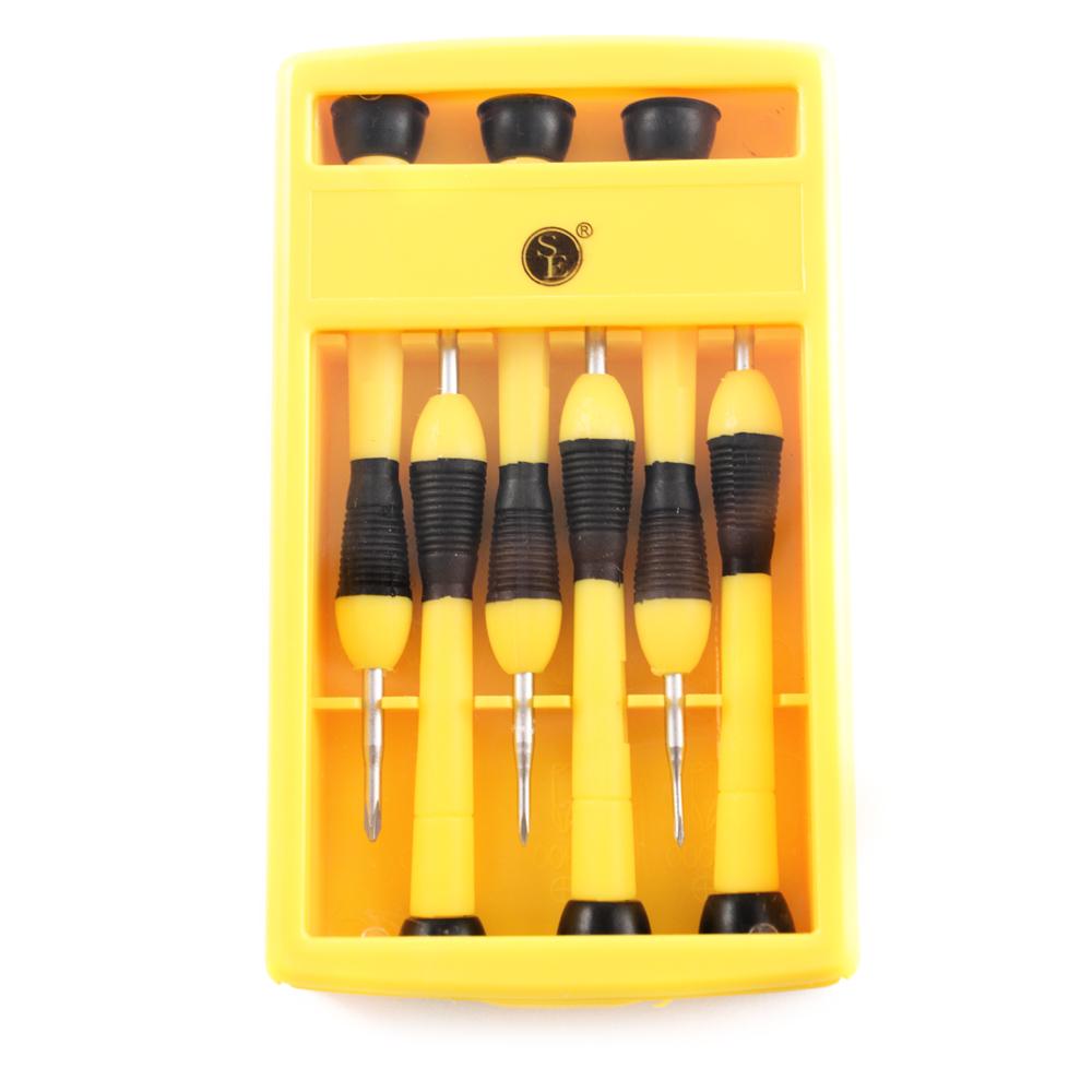 6pc Universal Tool Complete Professional Precision Screwdriver Set & Sturdy Case