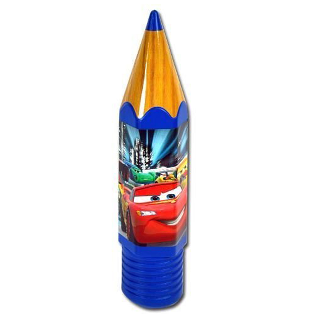 Officially Licensed Disney Pixar Cars 2 Blue Pencil Shaped School Supplies Case
