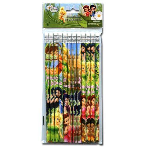12pk Tinkerbell Pencils