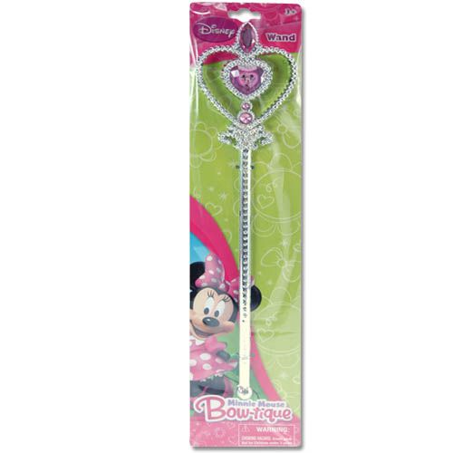 Disney Minnie Mouse Bowtique Girls 12.5 Inch Sparkle Wand Pretend Play Dress Up