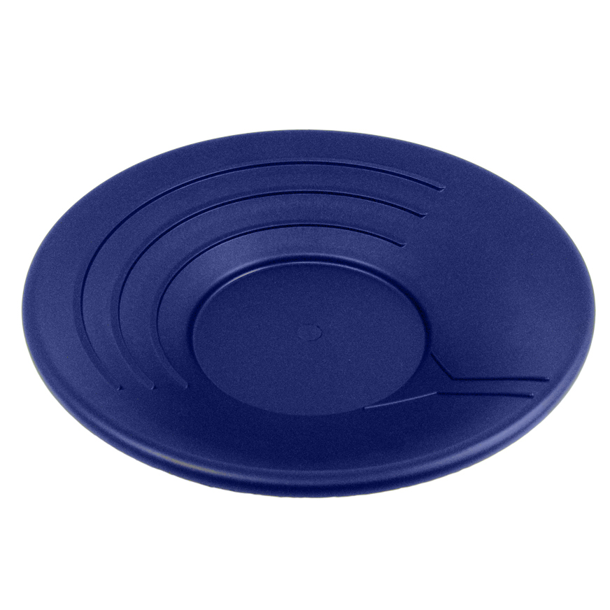 "BLUE 14"" Gold Rush Gravity Trap Gold Pan - High Impact Flexible Plastic"