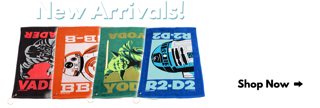 Collect all four styles of our Star Wars Last Jedi golf towels!