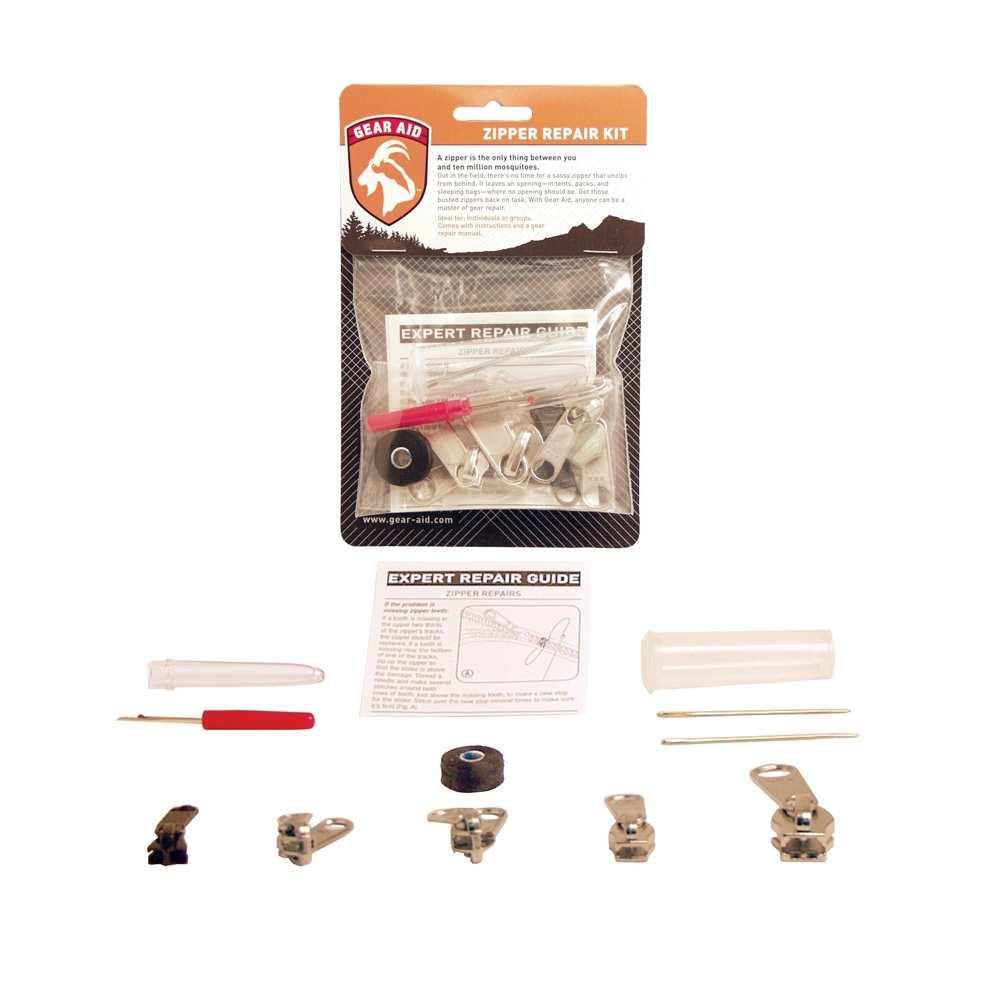 Gear Aid Zipper Repair Kit for Quick Outdoor Recreation Fix Emergency Survival