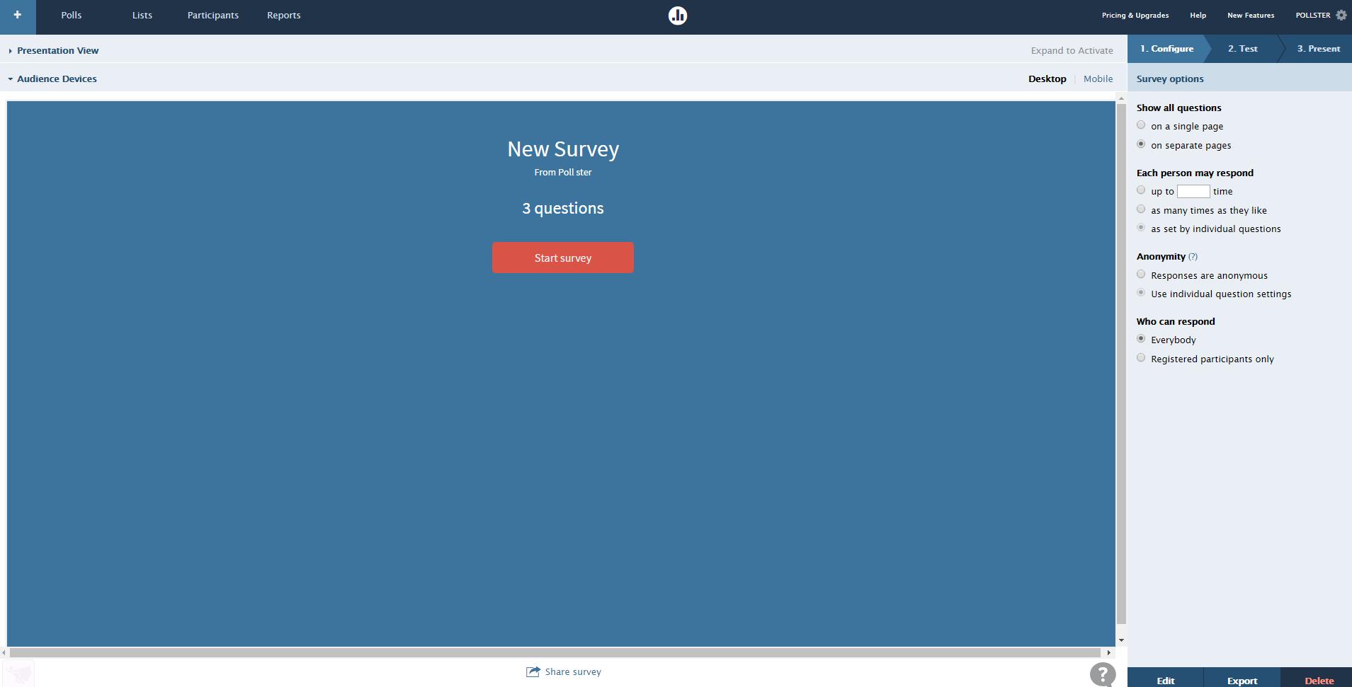 Multi-poll survey: step 3